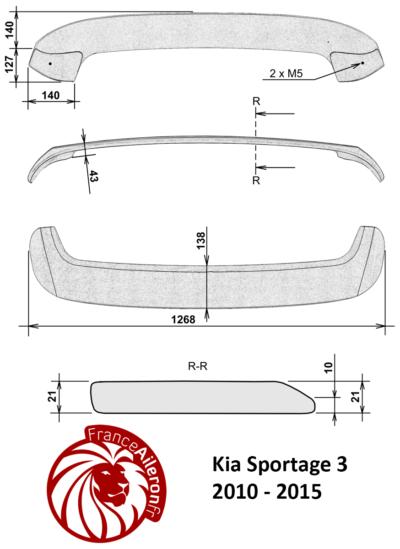 Becquet pour Kia Sportage 3 (2010-2015)
