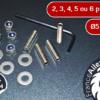 Kit de fixation par vis pour ailerons & becquets (2, 3, 4, 5 et 6 points / diamètre 5 et 6)