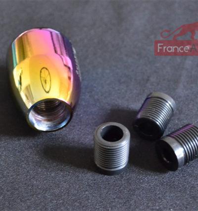 Pommeau de levier de vitesse racing en aluminium caméléon (5 vitesses + R)-477